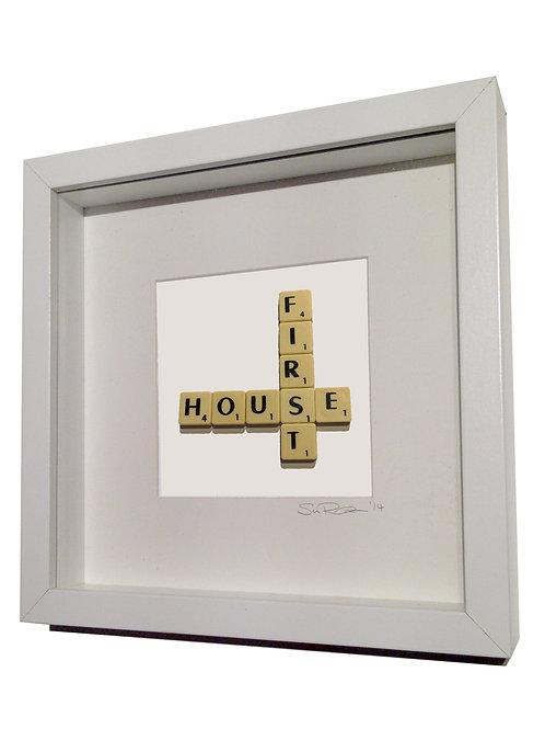 'First House' Framed Scrabble Artwork