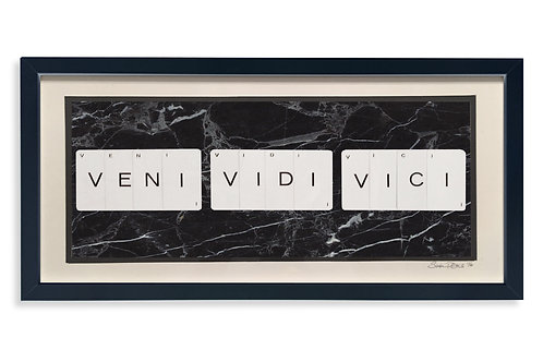 'Veni Vidi Vici' Framed Vintage Playing Card Artwork