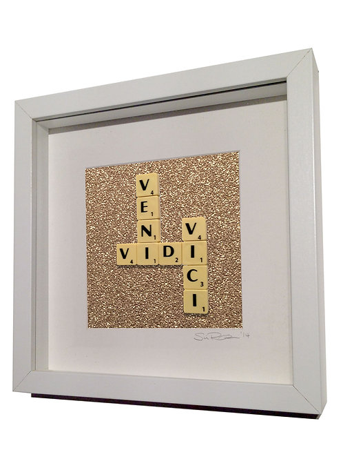 'Veni Vidi Vici' Framed Scrabble Artwork