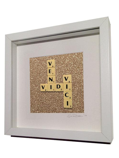 'Veni Vidi Vici' Framed Scrabble Artwork