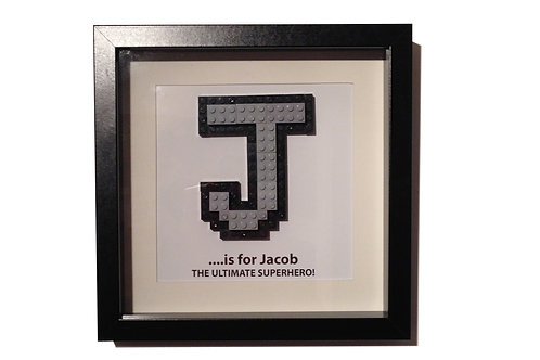 Lego Personalsied Monogram Framed Artwork