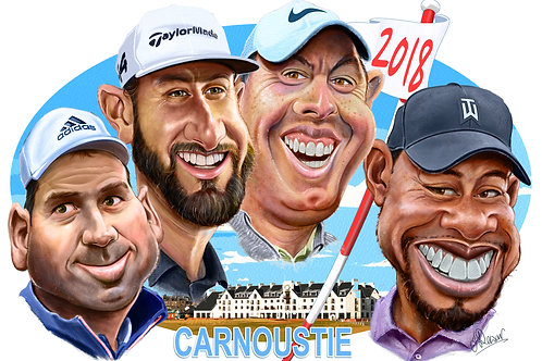 Sergio, Dustin, Rory and Tiger