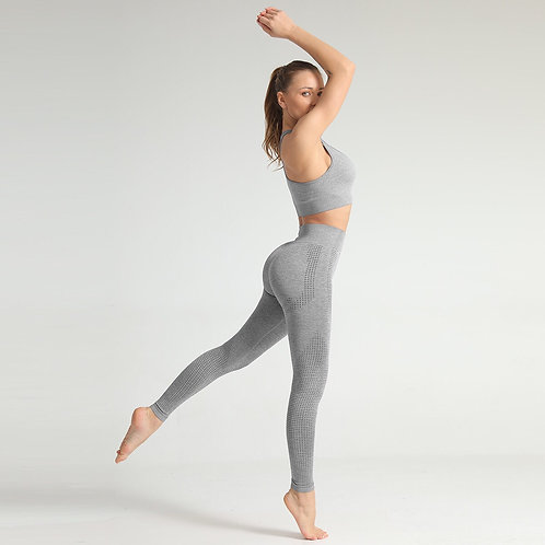 Yoga|Seamless SET Leggings+Bra