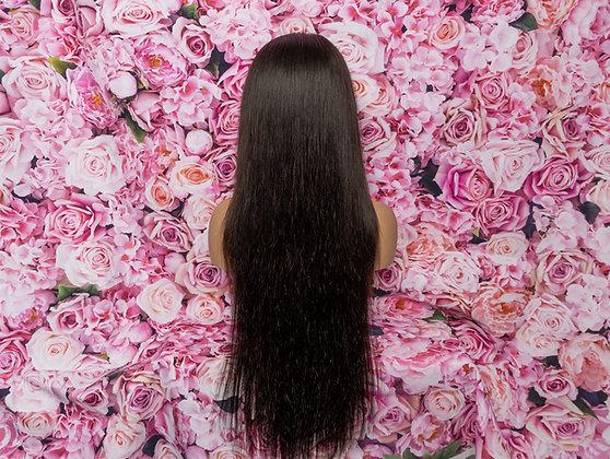 Ashanti Straight HD Lace 200 density Virgin Human Hair wig