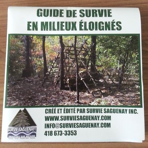 Guide de survie format 6'' x 6''