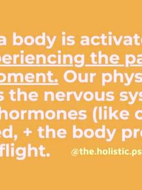 Understanding the trauma body...