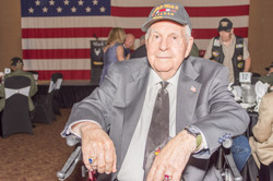 Processed WWII Veteran Seated