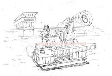 30. M.A.S.K. Pit Stop Catapult - Final D