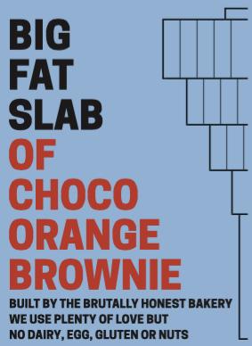 Box of Big Fat Slabs: Choco Orange Brownie