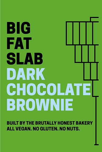Box of Big Fat Slabs: Dark Chocolate Brownie