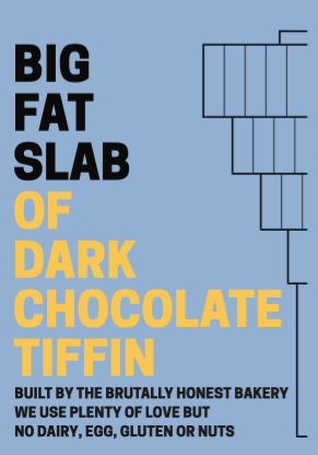 Box of Big Fat Slabs: Dark Chocolate Tiffin