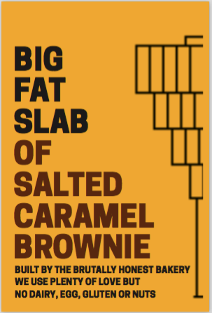 Box of Big Fat Slabs: Salted Caramel Brownie