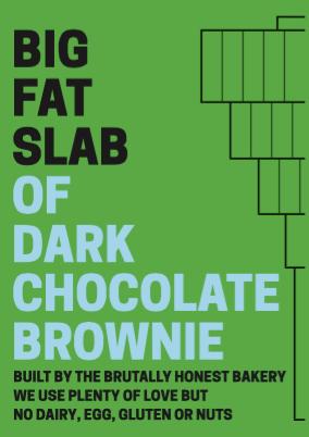 Box of Big Fat Slabs: Dark Chocolate Brownie