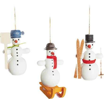 Tree ornament SNOWMEN Set of 3
