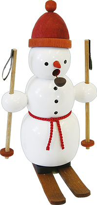Incense Smoker SNOWMAN WITH SKIS