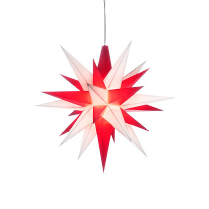 Herrnhuter Mini Plastic Star RED/WHITE (13 cm/5.1 inch)