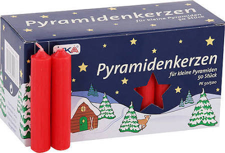 Pyramid candles RED