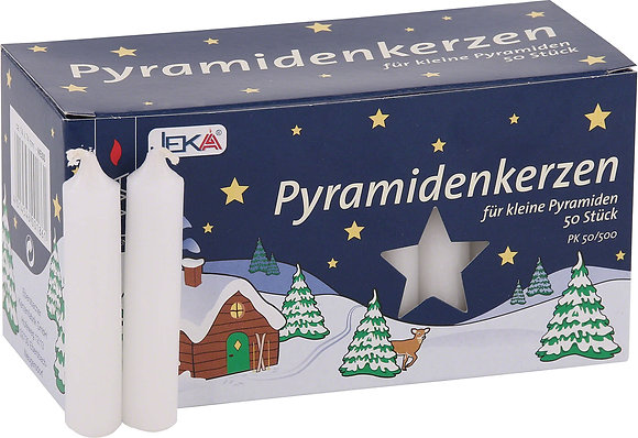 Pyramid candles WHITE