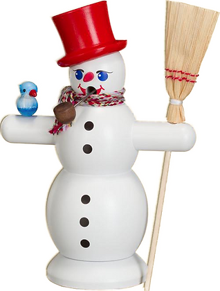 Incense Smoker SNOWMAN WITH BROOM