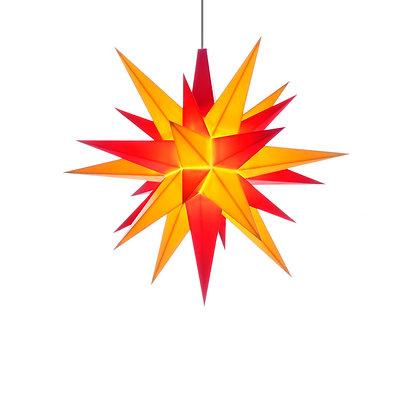Herrnhuter Mini Plastic Star RED/YELLOW (13 cm/5.1 inch)