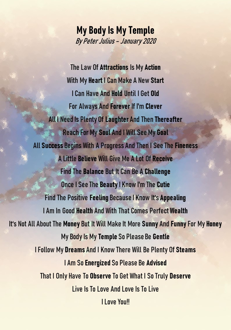Peter Julius, Barcelona, Gay, Therapist, Life Coach, Poem, Law of Attraction, The Law of Attraction, LOA