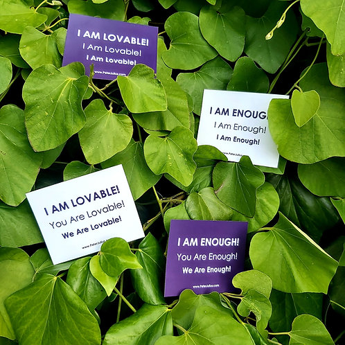 All 4 Magnets - I Am Enough! We Are Enough! I Am Lovable! We Are Lovable!