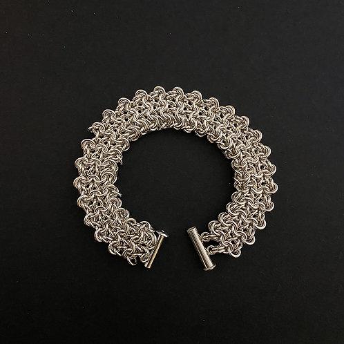 Coyote Weave Silver Bracelet