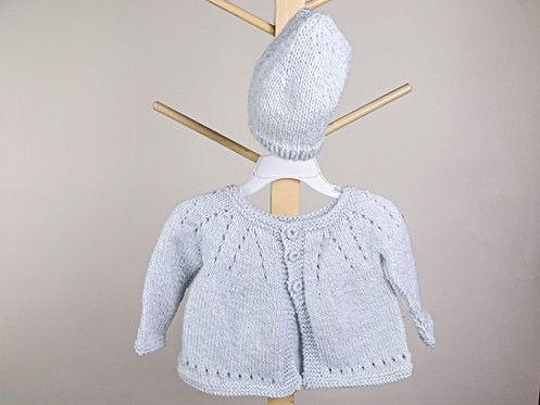 Blue Baby Sweater and Cap
