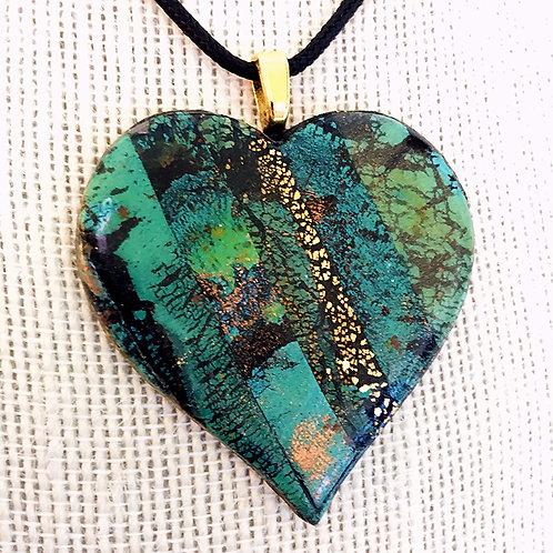 Heart Pendant Turquoise