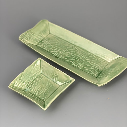 Tray for Sushi /Appetizer with one saucer