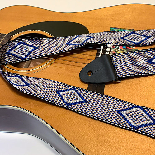 Handwoven Guitar Strap-2, special gift for musicians
