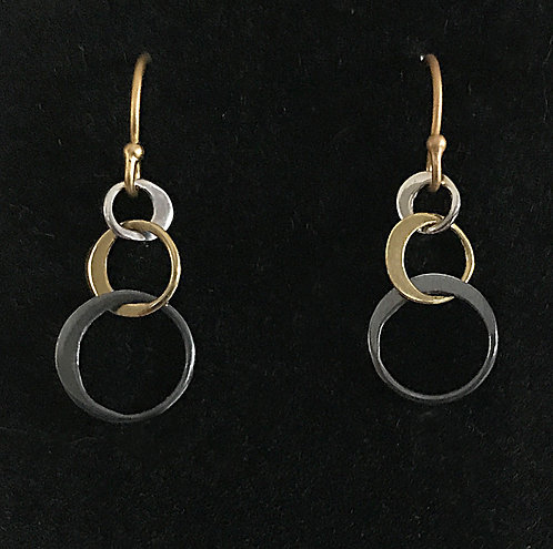 Sterling Silver/Gold Vermeil Tiny bubbles  earrings