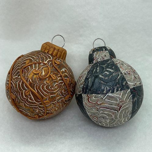 Chrysanthemum Caned Ornaments (2)