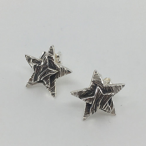 Layered Star Stud Earrings with Patterns