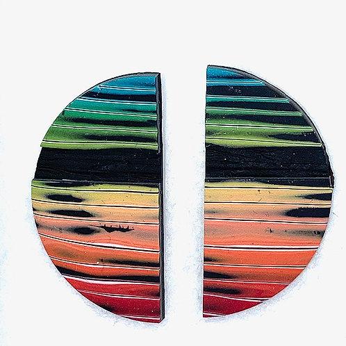Multicolored Patterned Earrings