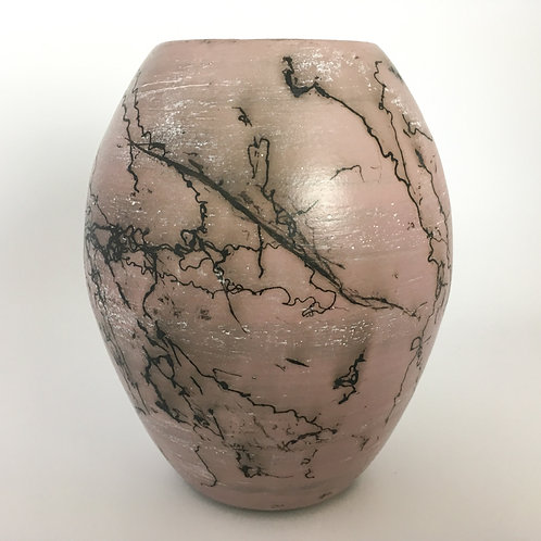 Pink horsehair vase