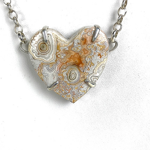 Honey Jasper, Crazy Lace Agate & Pearl Necklace