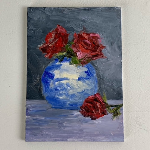 """""""Roses in a China Vase"""""""