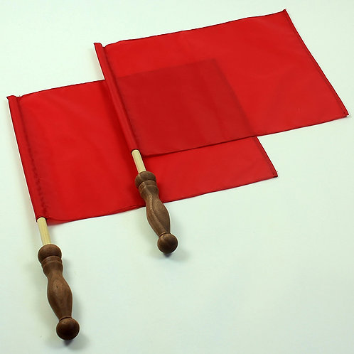 Linesman's Flags with Cherry Handles