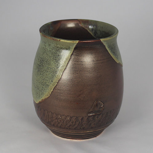 """Dark Chocolate"" vase/mug #2"