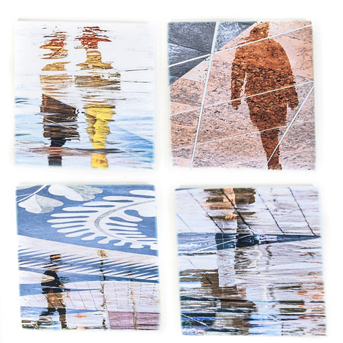 Lisbon Reflections Marble Coaster Set
