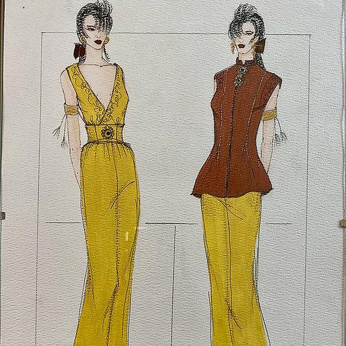 """""""Fall Colors"""", Fashion Illustration"""