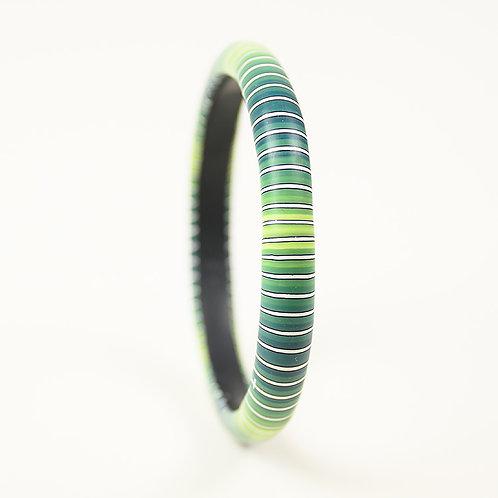 Blue and Green Striped Bracelet
