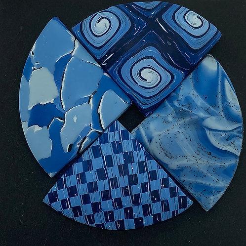 Denim Blue Pinwheel Pin