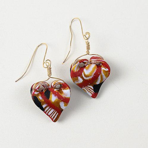 Folded Heart Earrings