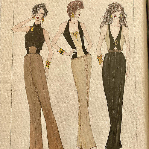 """P.M. Night Out"", Fashion Illustration"