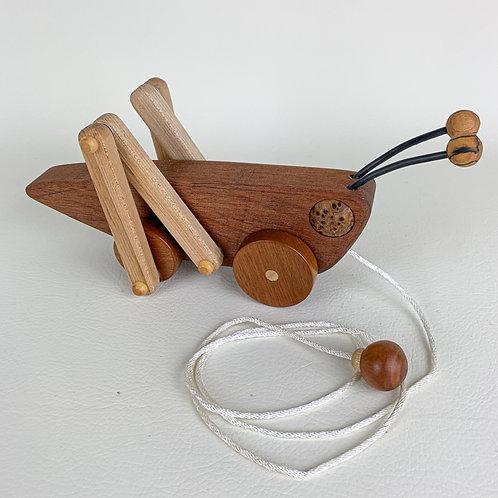 Wooden Grasshopper Pull Toy