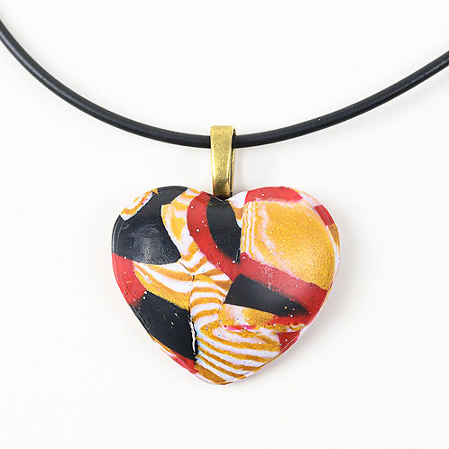 Abstract Heart Puff Pendant