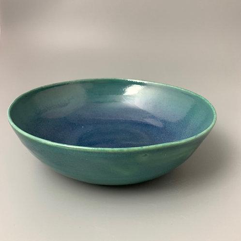 Sprayed Blue Bowl