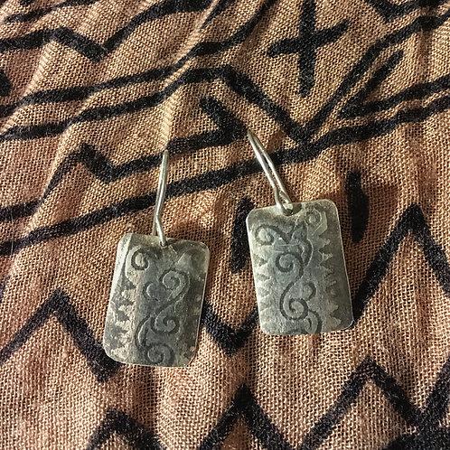 Patterned Silver Earrings